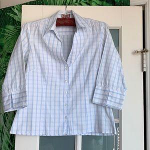Thomas Pink White Button down blouse size 12